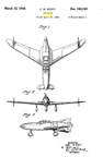 The Curtiss-Wright CW-24 ( XP-55)  Ascender Carl Scott Design Patent D-144,143
