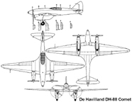 The Dehaviland DH. 88 Comet Tri view