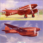 The Dehaviland DH. 88 Comet on trading cards
