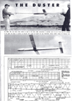 Duster wakefield Model Airplane, Model Airplane News, June, 1955
