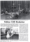 Model of the Fokker E-111 Eindecker on the cover of Model Airplane News February 1961