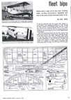 Fleet Biplane Model from December 1966 issue of Model Airplane News