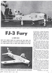 Model of the FJ3 Fury from Model Airplane News April, 1962