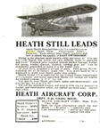 Ad for the Heath Aircraft Company Popular Mechanics, March, 1932