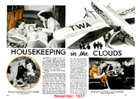 Popular Mechanics Article Housekeeping in the Clouds November 1937