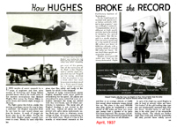 Hughes H-1 Racer in Popular Mechanics April, 1937