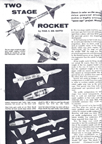 Model Airplane News August 1958 Plans for two stage jetex rocket