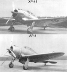 The Republic XP-41 and AP-4