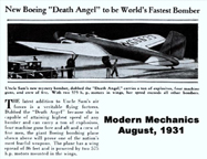 The Boeing B-9 (Model 215 in the August, 1931 issue of Modern Mechanics