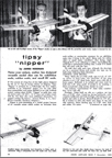 Article from December 1960 Model Airplane News showing how to build a model of the Tipsy Nipper