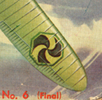Hypothetical enemy marking in 1933 depiction of combat cover of Model Airplane News