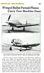 Bell P-39 Airacobra in Popular Mechanics August 1938