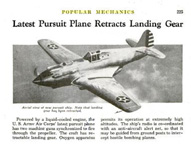 The Curtiss XP-42 in Popular Mechanics February, 1939