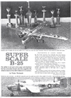 Florian Piorkowski Super Scale Model B-25 Model Airplane News October 1962