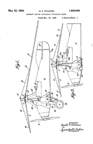 The US Army PitcairnPA-33 Autogiro Autogiro  Control Patent No. 1,959,444