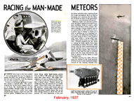 Racing the Man-made Meteors from Popular Mechanics, February, 1937