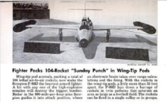 November 1953 Popular Science article on additional rocket armament for the F-89