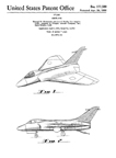 Ed Heinemann Design Patent No. D-177,500 for the McDonnell-Douglas A-4 Skyhawk