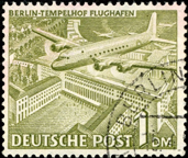 The Douglas C54 Skymaster Berlin Airlift commemorative stamp