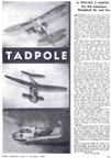 November 1948 Model Airplane News Plans for CO2 powered flying boat Tadpole