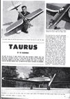 Taurus Radio Control Model January 1963 Model Airplane News