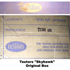Testor Skyhawk ready-to-fly radio control model airplane