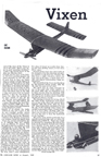 Vixen free flight model airplane Model Airplane News August 1949