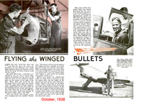 Flying the Winged Bullets from Popular Mechanics, October 1938
