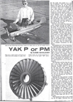 Claude McCullough Yakolev YAK-18P (Mouse) or YAK-18PM (Max) Cover of Model Airplane News July 1967