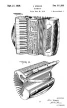 J. Vassos Accordion Design Patent D111555
