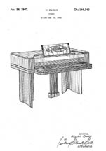 Electric Piano Patent D146243