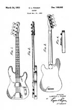 Fender precision Bass patent D169062
