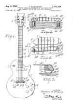 Les Paul Guitar Patent 2714326