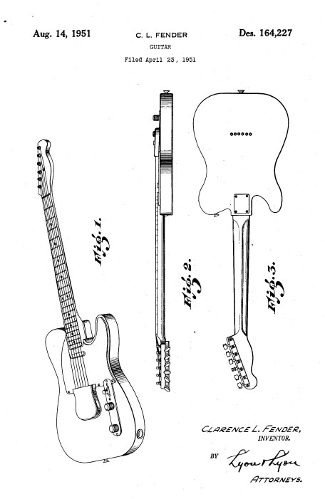 telecaster technical  line drawing