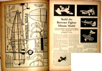Plans to build the Brewster F2A Buffal on Model Airplane News, October 1938 issue