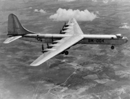 The B-36 in flight