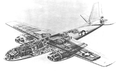 North American B-45 Bomber cutaway drawing