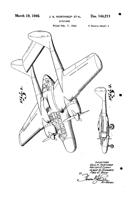 Northrop Aircraft Patents