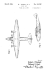 Boeing B-314 Clipper Flying Boat  Design Patent D-101,707