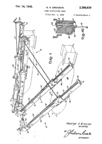 Douglas SBD Dauntless Dive Bomber Bomb Rack Patent No. 2,386,839