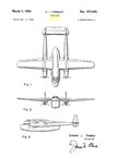 Fairchild C-82 Packet Cargo-Transport Design Patent D-157,645