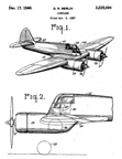 Curtiss-Wright CW-25 Jeep Patent No. 2,225,094