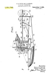 Curtiss NC-4 Flying Boat Patent No. 1,351,742