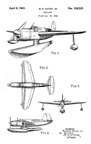Curtiss SO2C Seamew  Observation Floatplane Design Patent  D-126,523