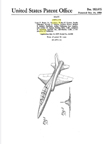 North American F-100 Super Sabre Fighter  Design Patent D-183,675