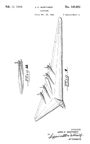 Northrop XB-35 Flying Wing Design Patent D-143,852