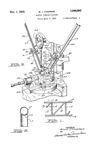 Patent for tubing bending device, No. 1,886,082