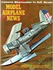 June 1964 Cover of Model Airplane News featuring drawing of the Curtiss SOC Seagull Observation Floatplane by Jo Kotula