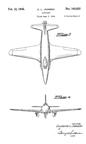 Lockheed P-80 Shooting Star Jet Fighter Design Patent D-143,822