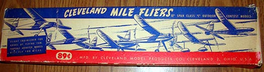 Cleveland Model Airplanes Mile Flyer Polish Valor